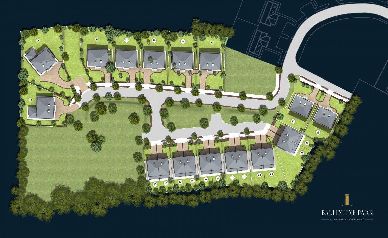 Ballintine Park site plan Allen Kildare
