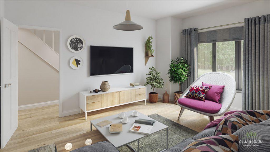 New homes lounge interior Cluain Dara, Kildare