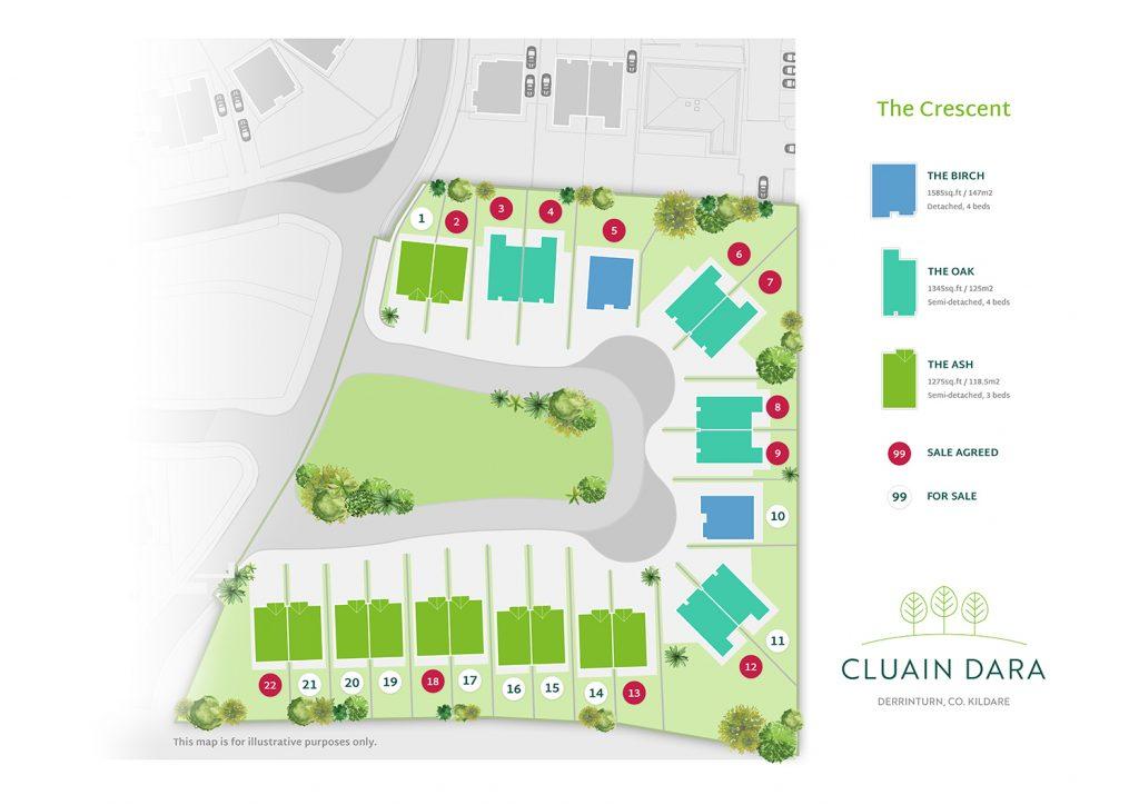 Cluain Dara Estate Site Plan Map